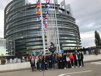 EPASP - elever på studiebesök i Strasbourg
